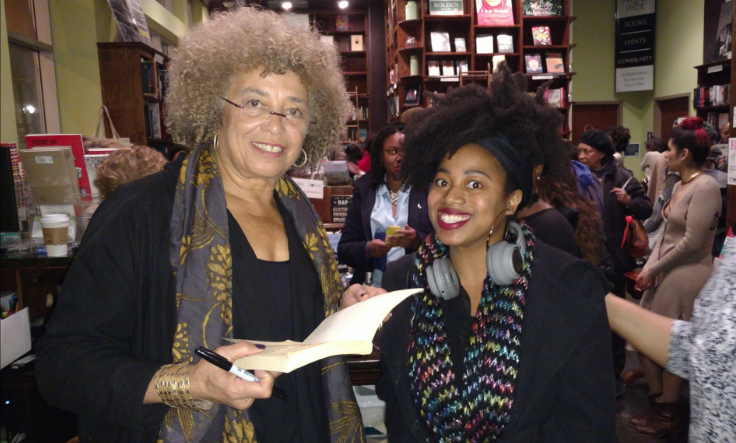 Jolie and Angela Davis at her book signing.